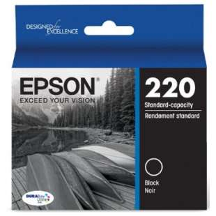 Original Epson T220120 (220 ink) high quality inkjet cartridge - black cartridge