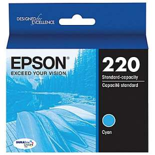 Original Epson T220220 (220 ink) high quality inkjet cartridge - cyan