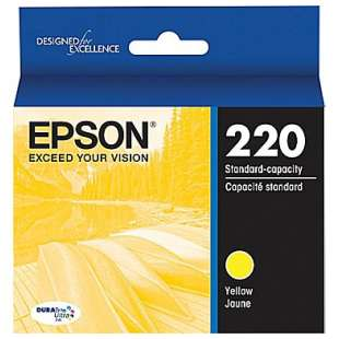 Original Epson T220420 (220 ink) high quality inkjet cartridge - yellow