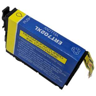 Remanufactured Epson T702XL420 (702XL) inkjet cartridge - high capacity yellow