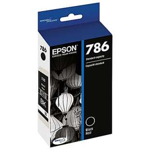 Original Epson T786120 (786 ink) high quality inkjet cartridge - black cartridge