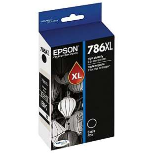 Original Epson T786XL120 (786XL ink) high quality inkjet cartridge - high capacity black