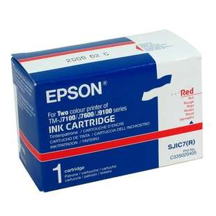 Original Epson C33S020405 (SJIC7 ink) high quality inkjet cartridge - red
