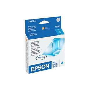 Original Epson T060220 (60 ink) high quality inkjet cartridge - cyan