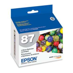 Original Epson T087020 (87 ink) high quality inkjet cartridge - gloss optimizer