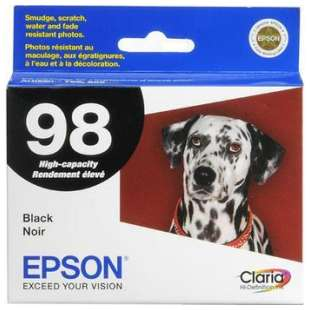 Original Epson T098120 (98 ink) high quality inkjet cartridge - black cartridge