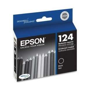 Original Epson T124120 (124 ink) high quality inkjet cartridge - black cartridge