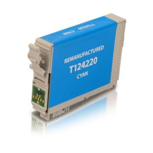 Remanufactured Epson T124220 (124 ink) high quality inkjet cartridge - pigmented cyan