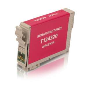 Remanufactured Epson T124320 (124 ink) high quality inkjet cartridge - pigmented magenta