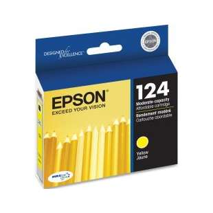 Original Epson T124420 (124 ink) high quality inkjet cartridge - yellow