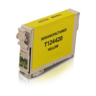 Remanufactured Epson T124420 (124 ink) high quality inkjet cartridge - pigmented yellow