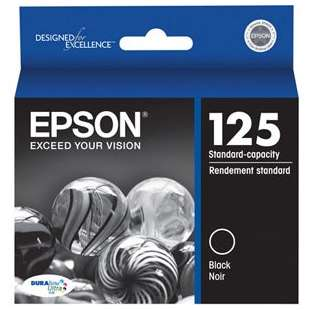 Original Epson T125120 (125 ink) high quality inkjet cartridge - black cartridge