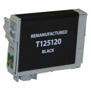 Remanufactured Epson T125120 (125 ink) high quality inkjet cartridge - pigmented black