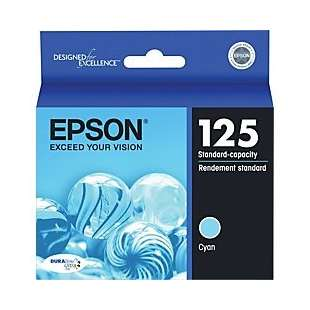 Original Epson T125220 (125 ink) high quality inkjet cartridge - cyan