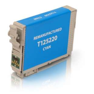 Remanufactured Epson T125220 (125 ink) high quality inkjet cartridge - pigmented cyan