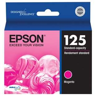 Original Epson T125320 (125 ink) high quality inkjet cartridge - magenta