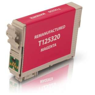 Remanufactured Epson T125320 (125 ink) high quality inkjet cartridge - pigmented magenta
