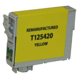 Remanufactured Epson T125420 (125 ink) high quality inkjet cartridge - pigmented yellow