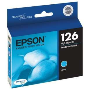 Original Epson T126220 (126 ink) high quality inkjet cartridge - high capacity cyan