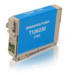 Remanufactured Epson T126220 (126 ink) high quality inkjet cartridge - high capacity pigmented cyan