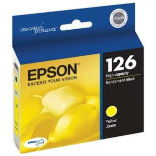 Original Epson T126420 (126 ink) high quality inkjet cartridge - high capacity yellow