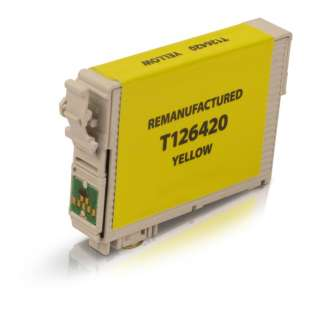 Remanufactured Epson T126420 (126 ink) high quality inkjet cartridge - high capacity pigmented yellow