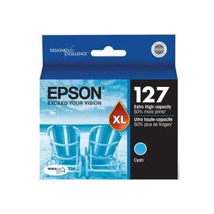 Original Epson T127220 (127 ink) high quality inkjet cartridge - extra high capacity cyan