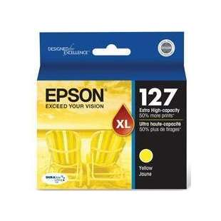 Original Epson T127420 (127 ink) high quality inkjet cartridge - extra high capacity yellow