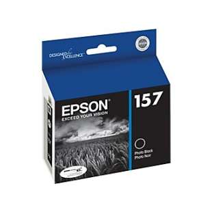 Original Epson T157120 (157 ink) high quality inkjet cartridge - photo black