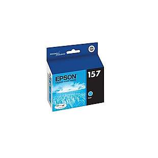 Original Epson T157220 (157 ink) high quality inkjet cartridge - cyan