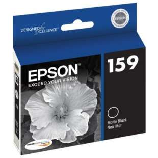 Original Epson T159820 (159 ink) high quality inkjet cartridge - matte black