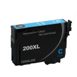 Remanufactured Epson T200XL220 (200XL ink) high quality inkjet cartridge - high capacity cyan (not for Epson XP-310 or Epson XP-410)