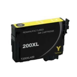 Remanufactured Epson T200XL420 (200XL ink) high quality inkjet cartridge - high capacity yellow (not for Epson XP-310 or Epson XP-410)
