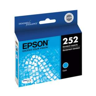 Original Epson T252220 (252 ink) high quality inkjet cartridge - cyan