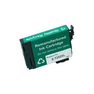 Remanufactured Epson T252XL220 (252XL ink) high quality inkjet cartridge - high capacity cyan