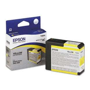 Original Epson T580400 high quality inkjet cartridge - yellow