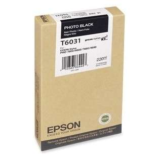 Original Epson T603100 high quality inkjet cartridge - ultrachrome photo black