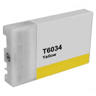 Remanufactured ink cartridge guaranteed to replace Epson T603400 - ultrachrome yellow