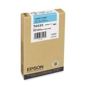 Original Epson T603500 high quality inkjet cartridge - ultrachrome light cyan