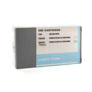 Remanufactured ink cartridge guaranteed to replace Epson T603500 - ultrachrome light cyan