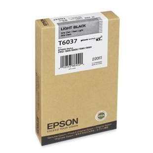 Original Epson T603700 high quality inkjet cartridge - ultrachrome light black
