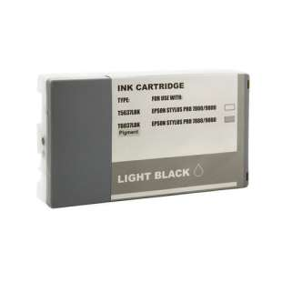Remanufactured ink cartridge guaranteed to replace Epson T603700 - ultrachrome light black