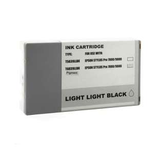 Remanufactured ink cartridge guaranteed to replace Epson T603900 - ultrachrome light light black