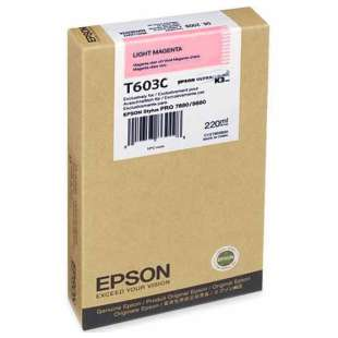 Original Epson T603C00 high quality inkjet cartridge - ultrachrome light magenta