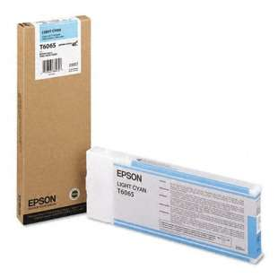 Original Epson T606500 high quality inkjet cartridge - ultrachrome light cyan