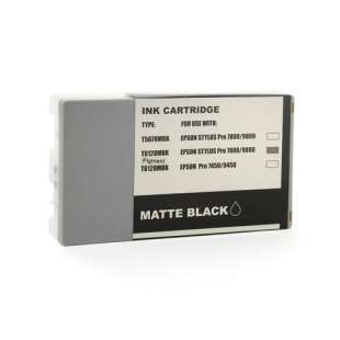 Remanufactured ink cartridge guaranteed to replace Epson T612800 - ultrachrome matte black