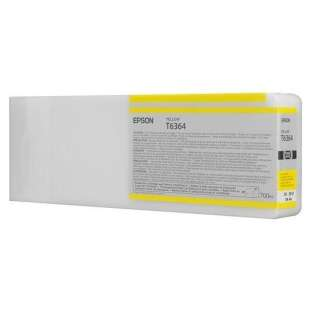 Original Epson T636400 high quality inkjet cartridge - ultrachrome yellow