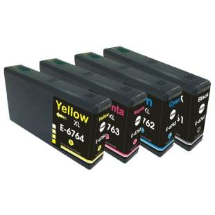 Remanufactured high quality inkjet cartridges Multipack for Epson 676XL - 4 pack