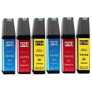 Remanufactured high quality inkjet cartridges Multipack for Epson 676XL - 6 pack
