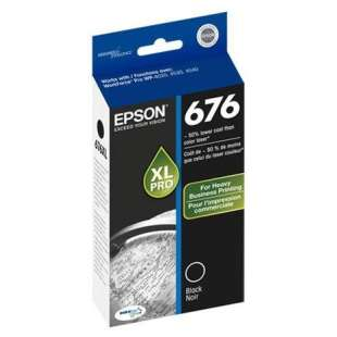 Original Epson T676XL120 (676XL ink) high quality inkjet cartridge - high capacity black